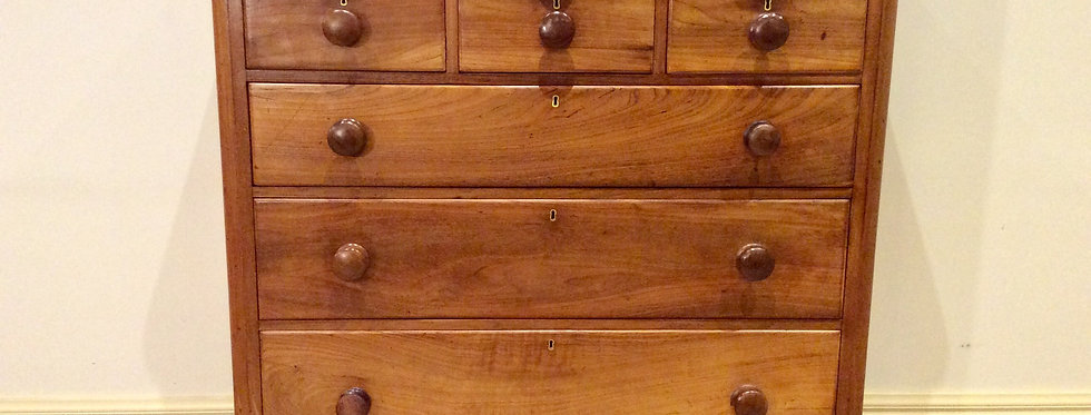 Late Victorian Red Cedar Seven Drawer Chest.