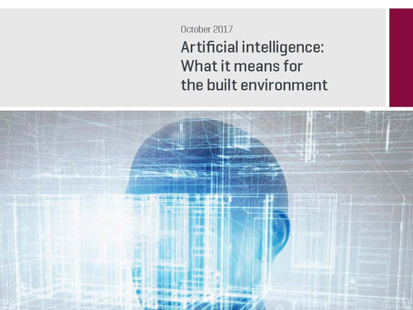 Artificial intelligence:What it means for the built environment