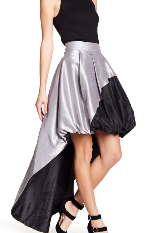 Silver and Black Reversible Skirt