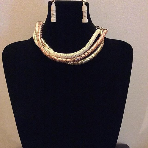 Trio Necklace and Earrings Set
