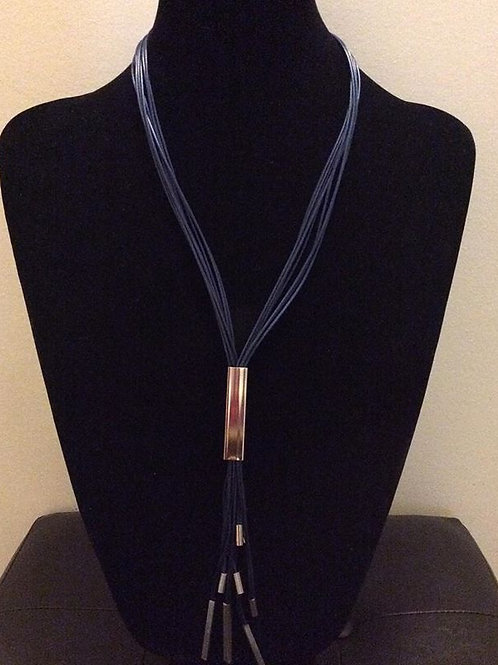 Navy Rope Necklace