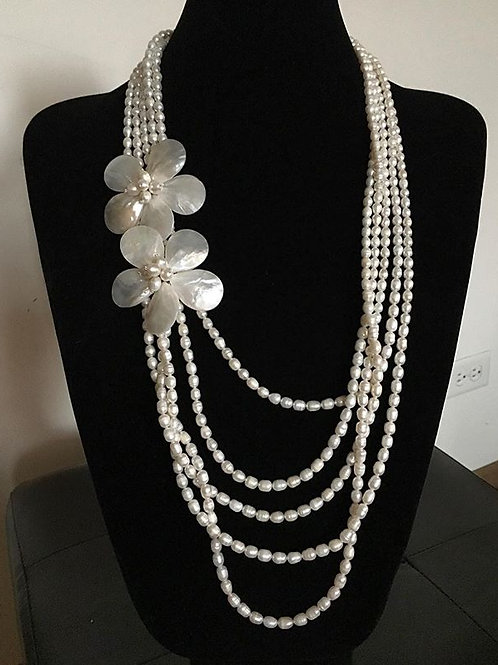 7 Layer Pearl Necklace
