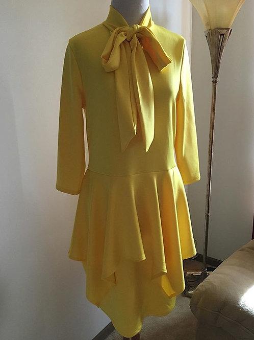 Bow Tie Flounce Mini Dress
