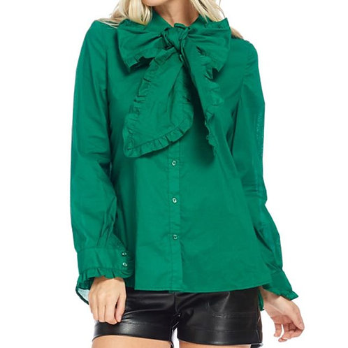 Green Bow Blouse