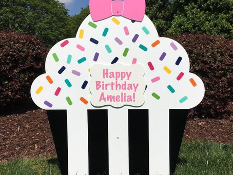 Birth Announcement Yard Sign