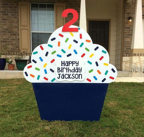 Navy Blue Cupcake