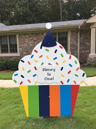 Multi-Color Cupcake