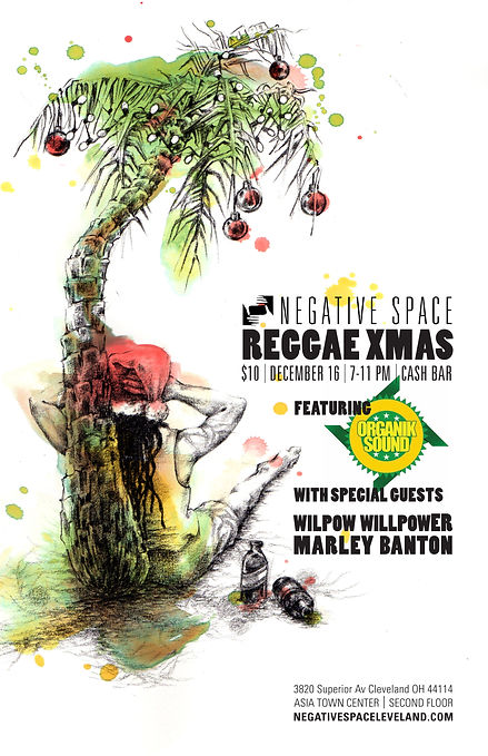 Negative Space Reggae Christmas Party