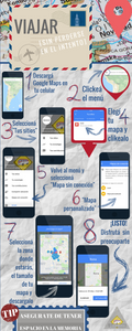 Cómo usar Google maps sin conexion  infografia