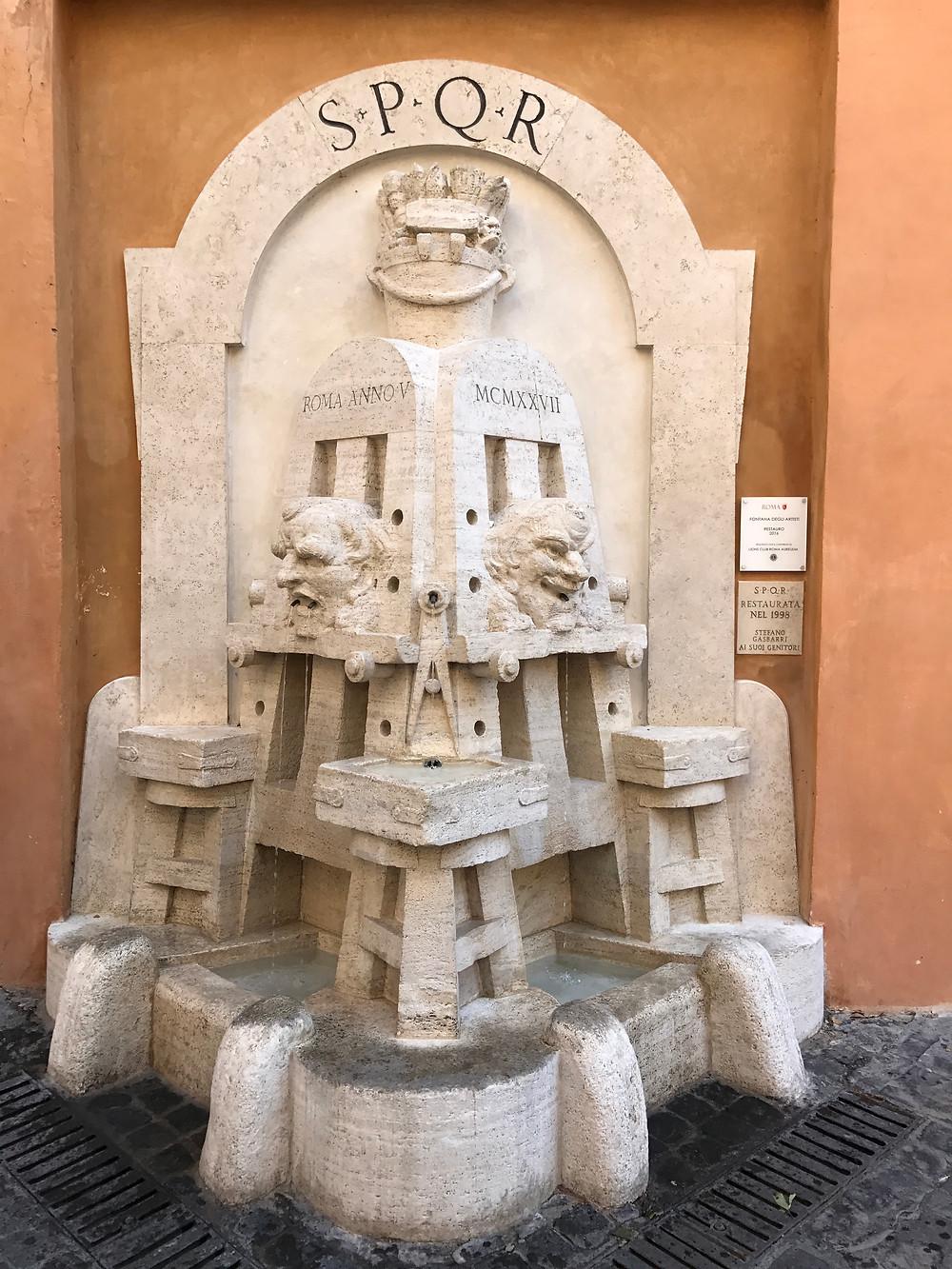 Agua gratis Roma
