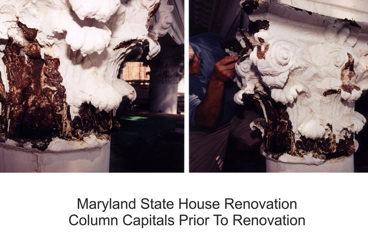 Maryland State House - Before Column Restorationpg