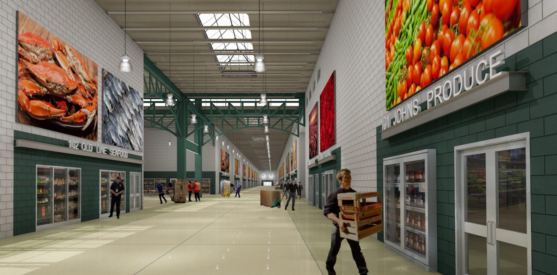 Wholesale Food Market - Interior