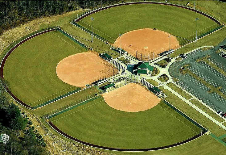 Western Regional Park Baseball Field House - Aerial View