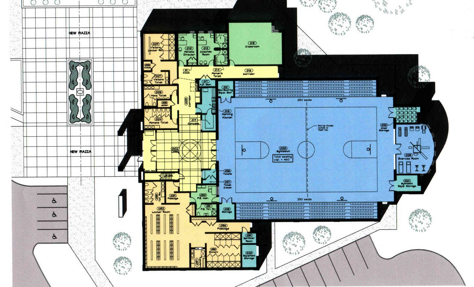 Mt de Sales Academy Sports Complex - Floor Plan
