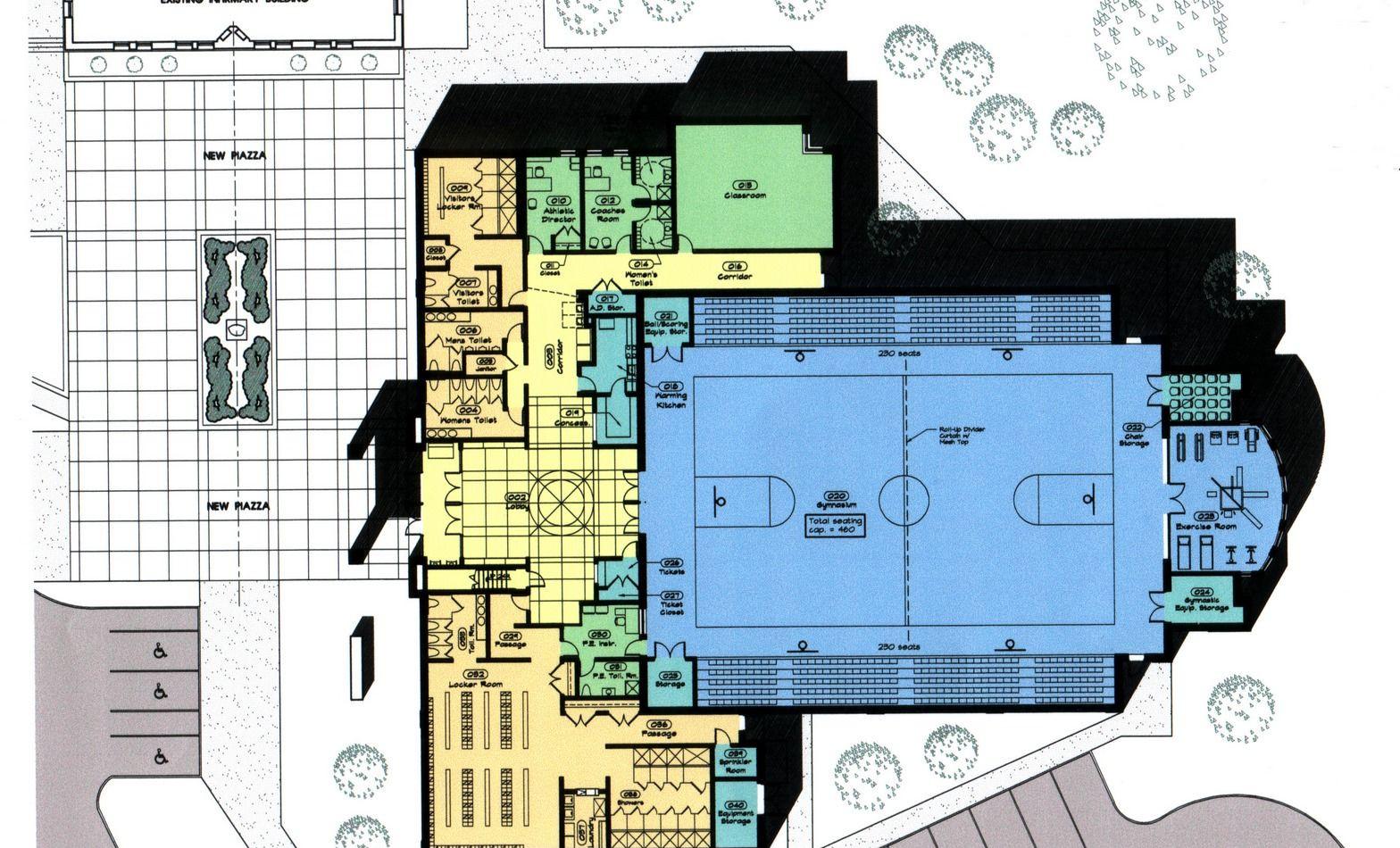 Mt de Sales Academy Sports Complex - Floor Plan