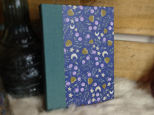 Handbound Hard Cover Journal - Moonflowers