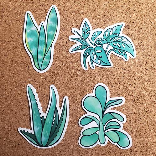 House Plant Vinyl Stickers