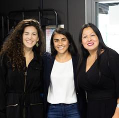Mona Mijthab (Mosan), Eliette Restrepo (Fundación Educación) and Rocio Robinson (AIT Startups)