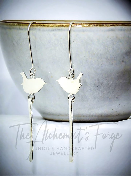 Long Single Detail Wren Earrings