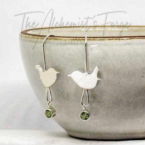 Small Drop Stone Set Wren Earrings