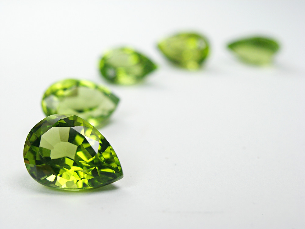 Beautiful example of a faceted Peridot stone.