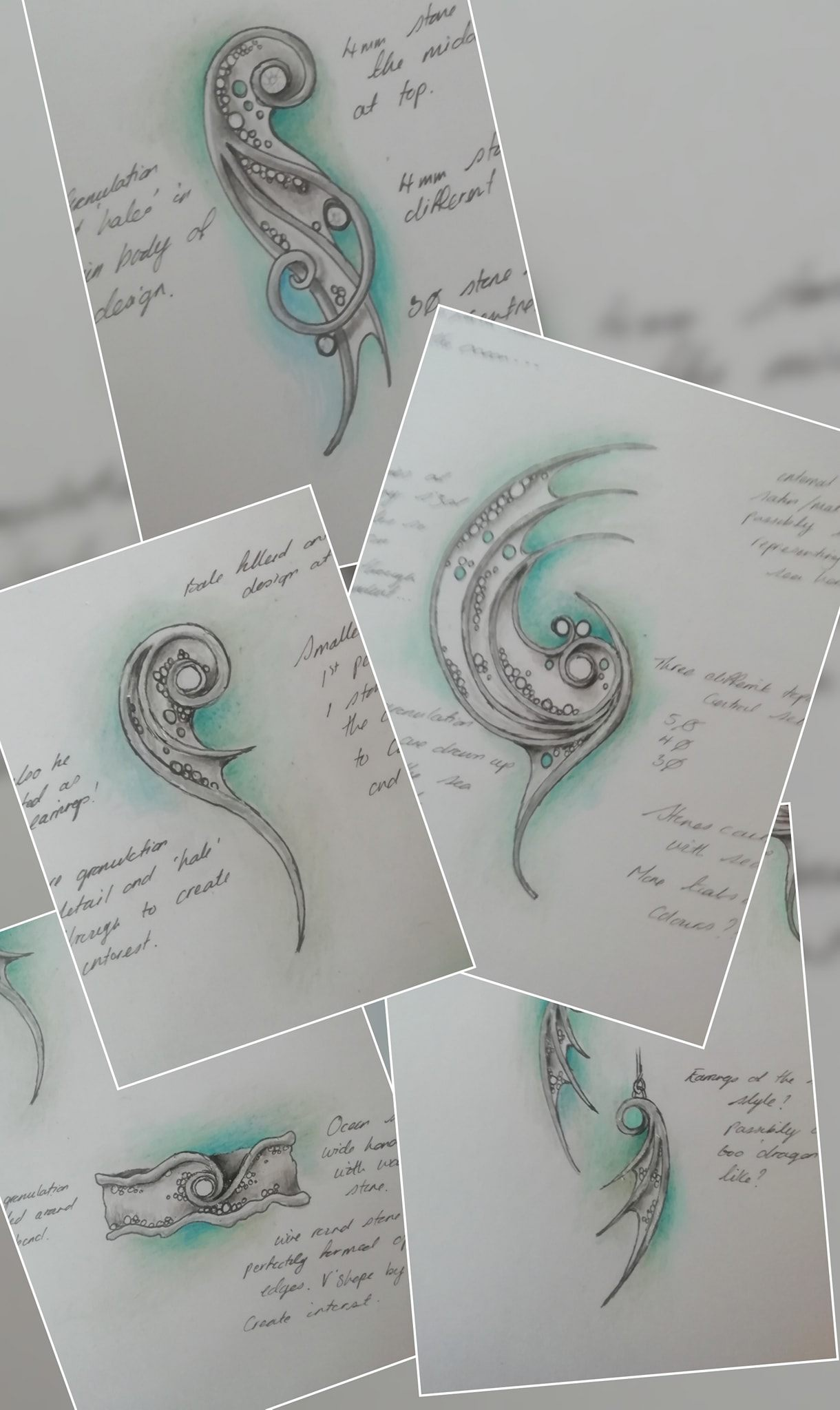 water dragon sketches
