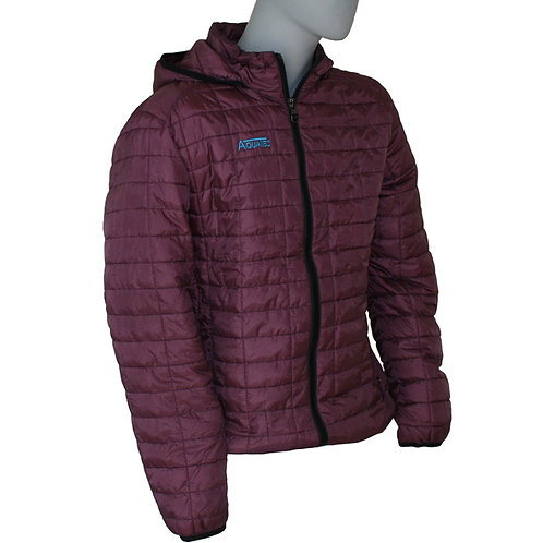Honeycomb Hooded Padded Jacket