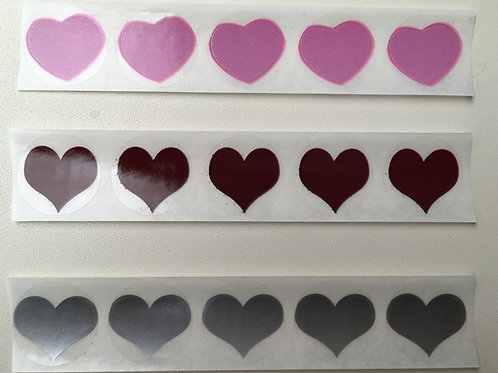 Plain Heart Shaped Scratch Off Stickers