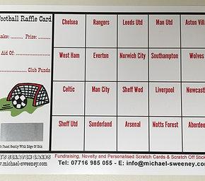 Fundraising Raffle Cards