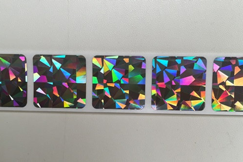 "1"" Square Holograph Scratch Off Stickers"