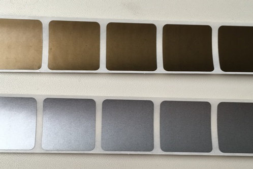 "1"" Square Gold / Silver Scratch Off Stickers"