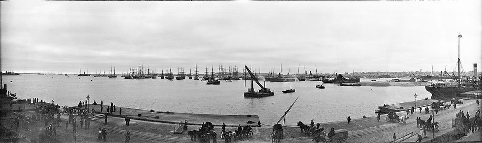 Port oAlexandria, Egypt. 1900s. Panoramic photo