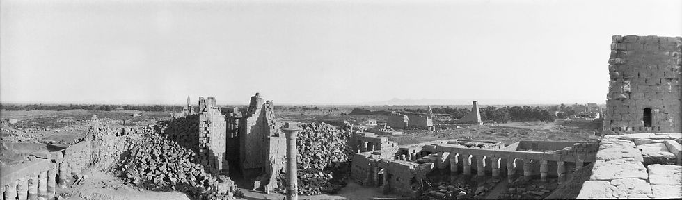 Kamak Temple, Luxor, Egypt | Old Photos | ZolotarevArchives.com