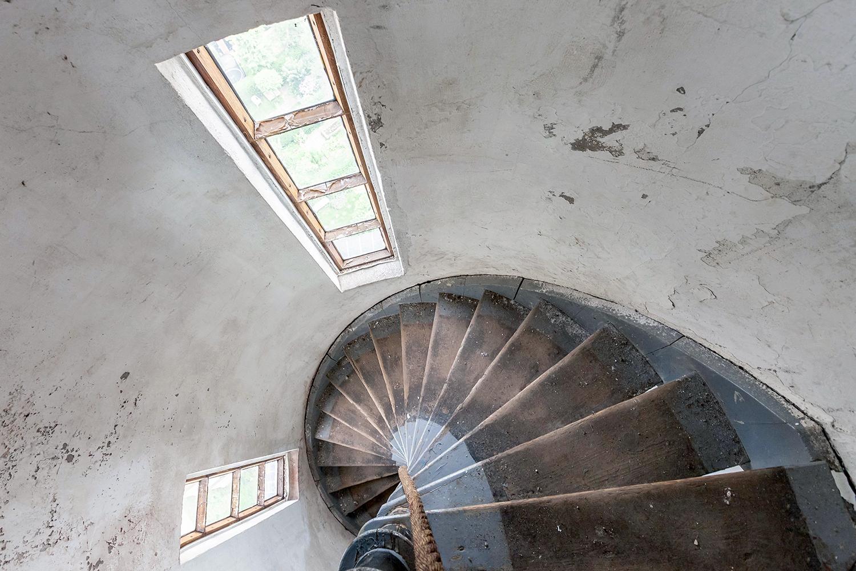 Trap watertoren aan de Hugo de Grootkade. Architect J.A. Mulock Houwer.