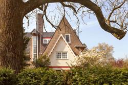 Villa in Amsterdamse School in Groningen. Architect S.J. Bouma.
