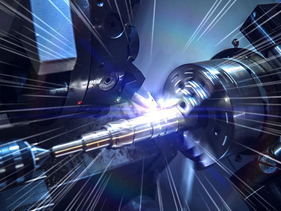 Close up CNC milling/drilling machine wo