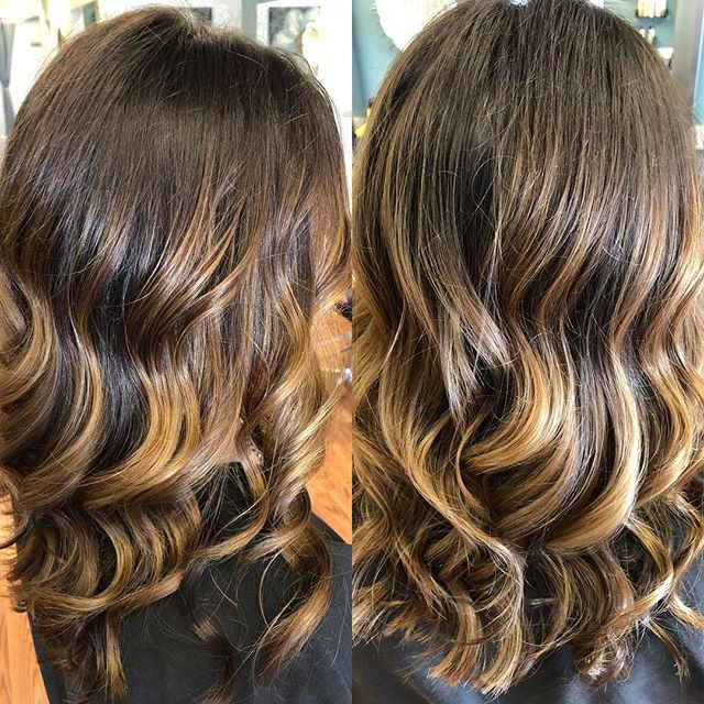 SHE has a beautiful brunette balayage _t