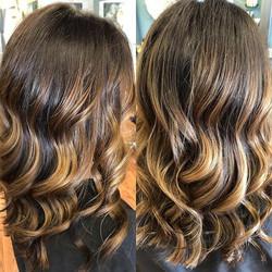 SHE has a beautiful brunette balayage _t