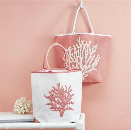 Beaded Coral Bag