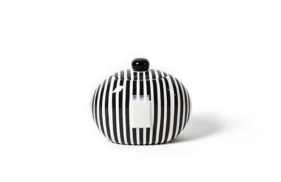 Black & White Stripped Cookie Jar