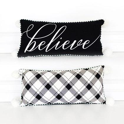 Believe Decor Pillow