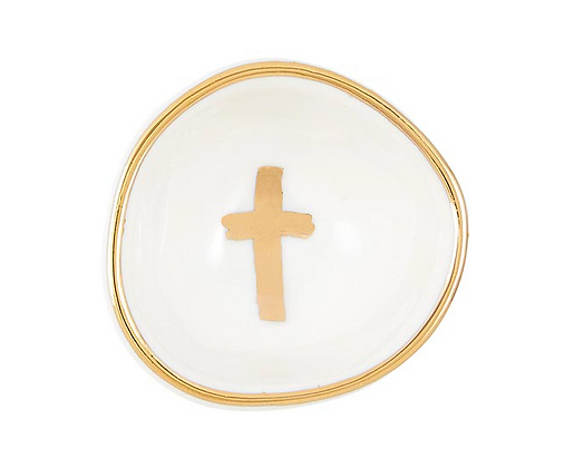 Gold Cross Ring Plate