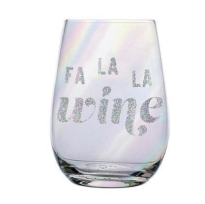Fa La La Wine Glass