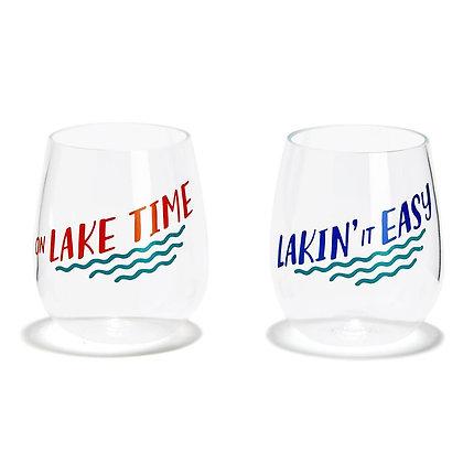 Lake Wine Glass Set