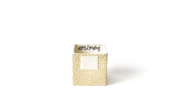 Gold Small Dot Nesting Cube