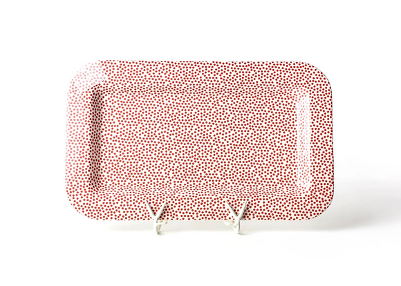 Red Small Dot Entertaining Mini Rectangle Platter