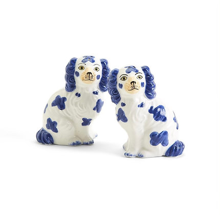 Blue Dog Salt and Pepper Shakers