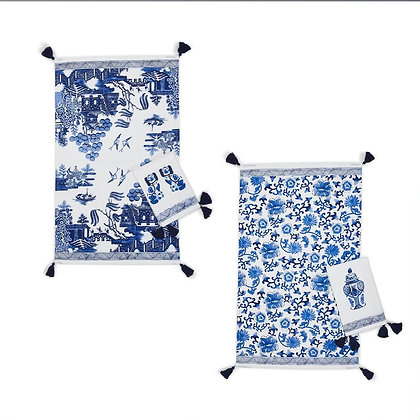Blue and White Tea Towels