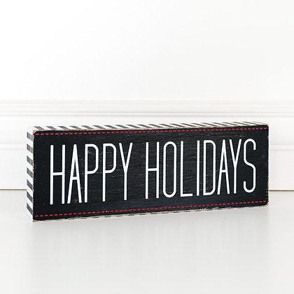 Happy Holidays Decor Sign
