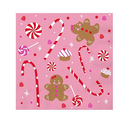 Gingerbread Candy Holiday Napkin